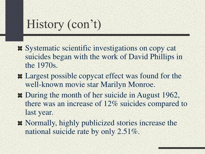 History (con't)