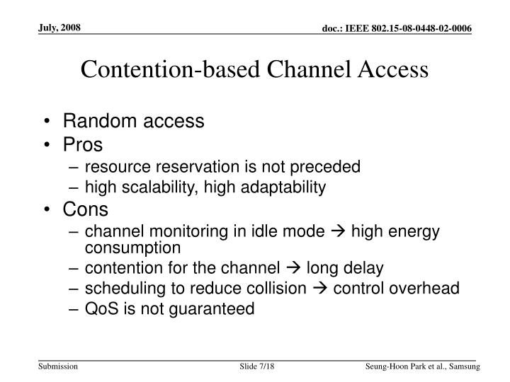 Contention-based Channel Access