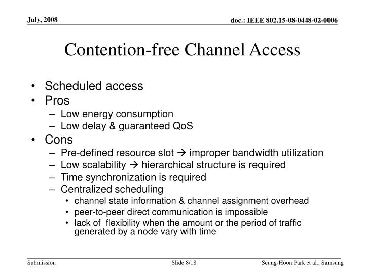 Contention-free Channel Access