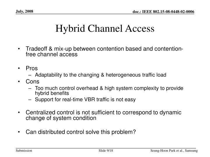 Hybrid Channel Access