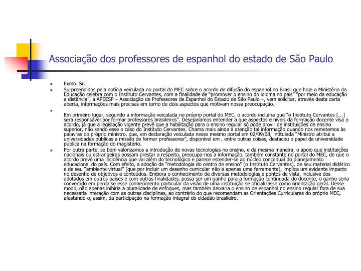 Associação dos professores de espanhol do estado de São Paulo