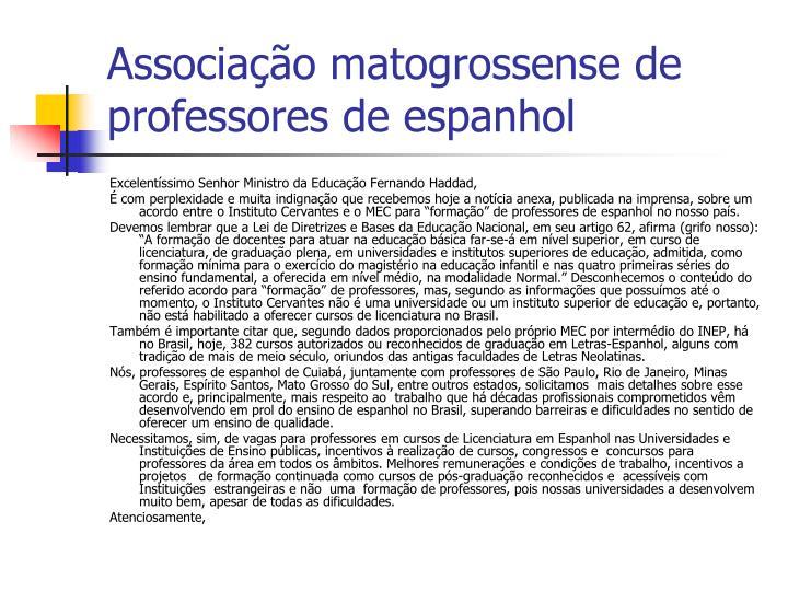 Associação matogrossense de professores de espanhol
