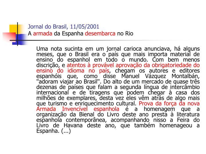 Jornal do Brasil, 11/05/2001