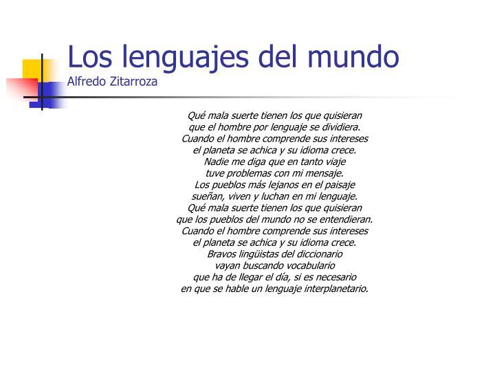 Los lenguajes del mundo