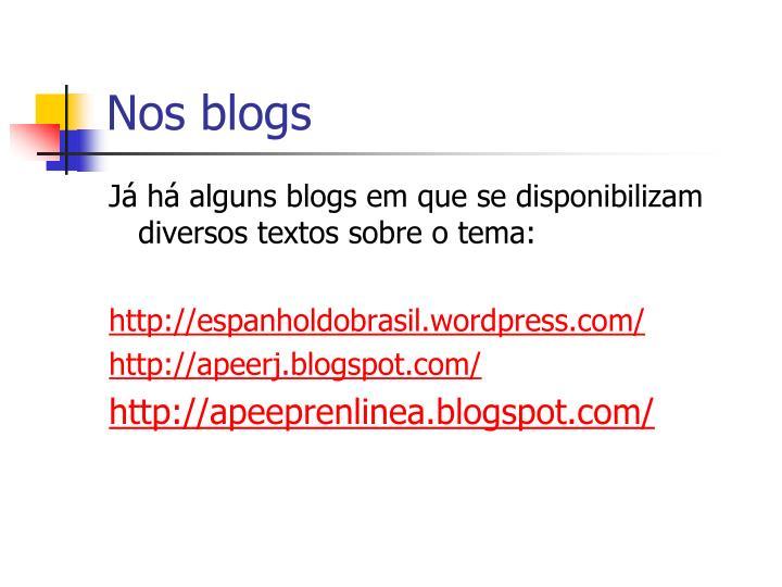 Nos blogs