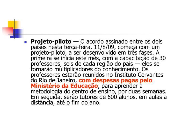 Projeto-piloto