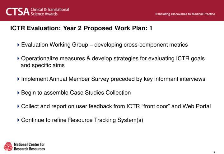 ICTR Evaluation: