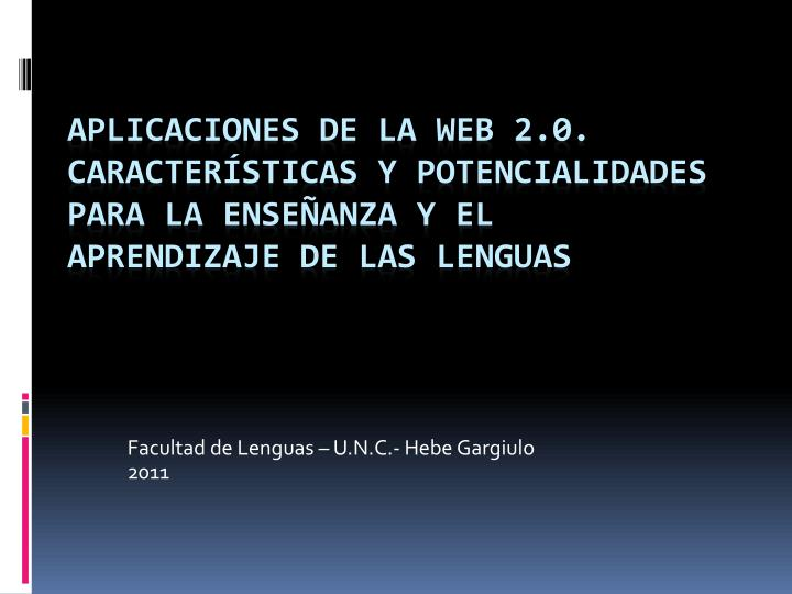 Facultad de Lenguas – U.N.C.- Hebe