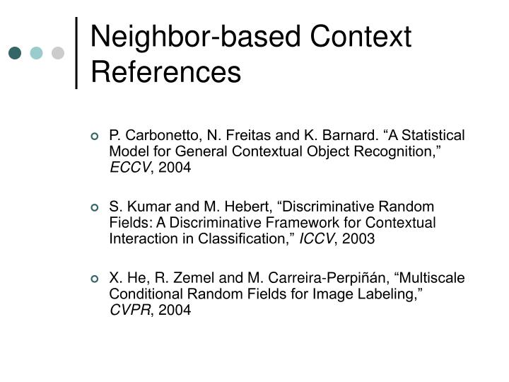 Neighbor-based Context References