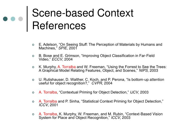 Scene-based Context References