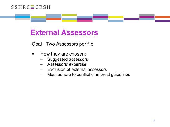 External Assessors