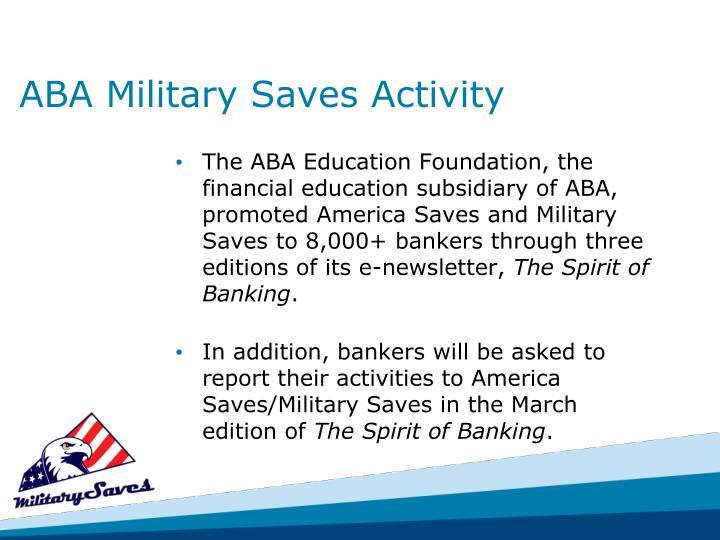 ABA Military Saves Activity