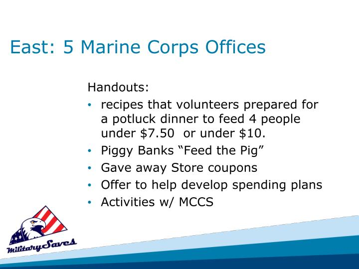 East: 5 Marine Corps Offices