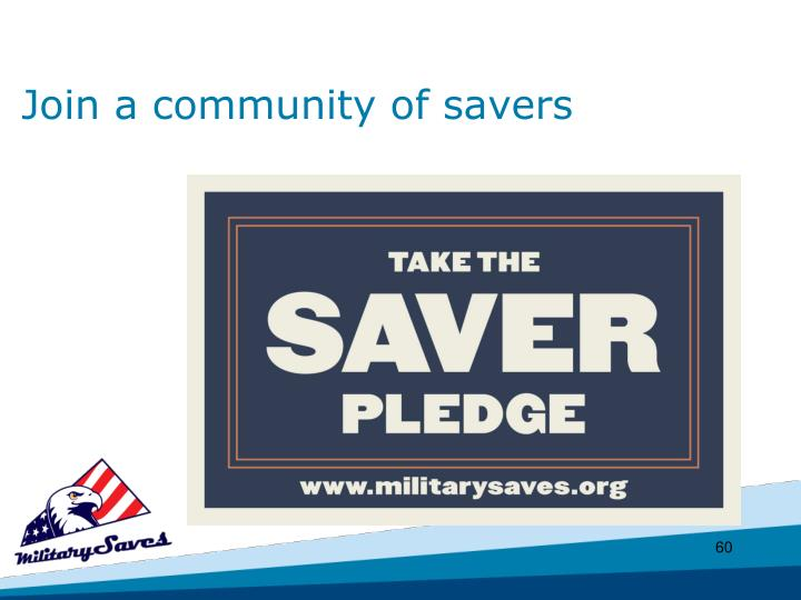 Join a community of savers