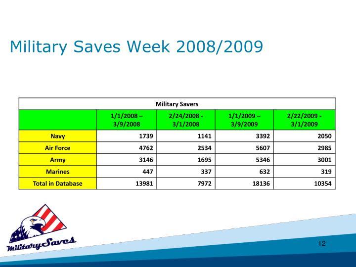 Military Saves Week 2008/2009