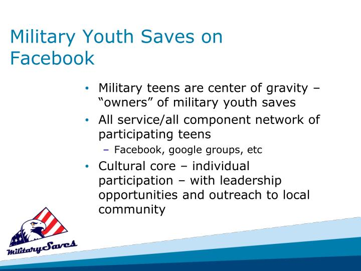 Military Youth Saves on Facebook
