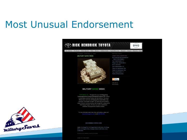 Most Unusual Endorsement