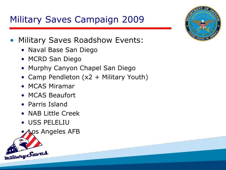Military Saves Campaign 2009