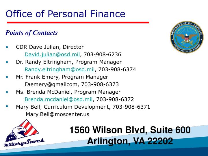 Office of Personal Finance