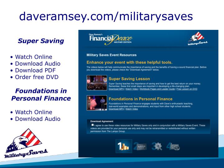 daveramsey.com/militarysaves