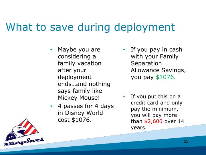 What to save during deployment
