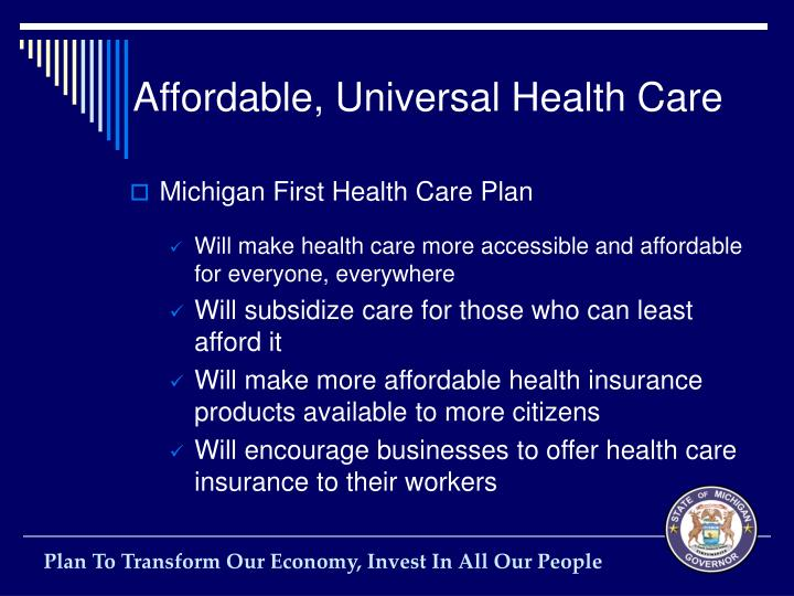 Affordable, Universal Health Care