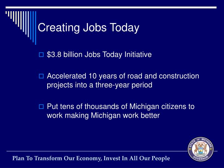 Creating Jobs Today