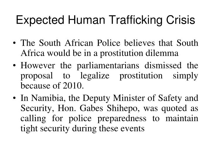 Expected Human Trafficking Crisis
