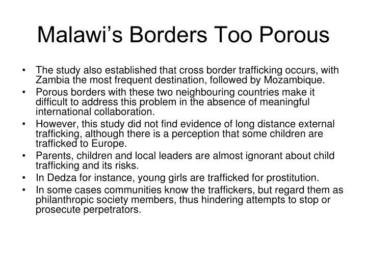 Malawi's Borders Too Porous