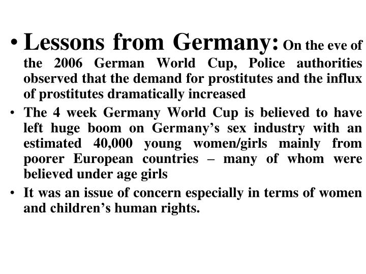 Lessons from Germany: