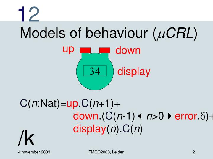 Models of behaviour (
