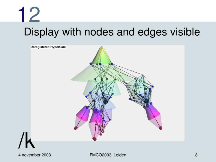 Display with nodes and edges visible