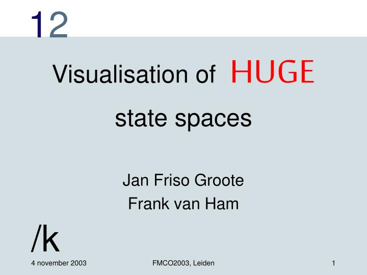 visualisation of huge state spaces