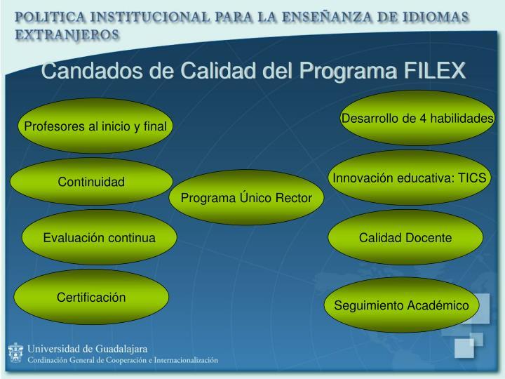 Candados de Calidad del Programa FILEX