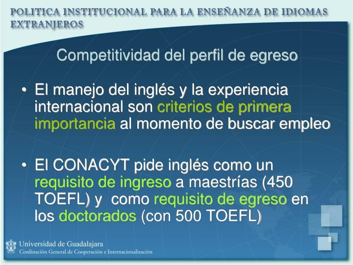 Competitividad del perfil de egreso