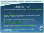 metodolog a filex