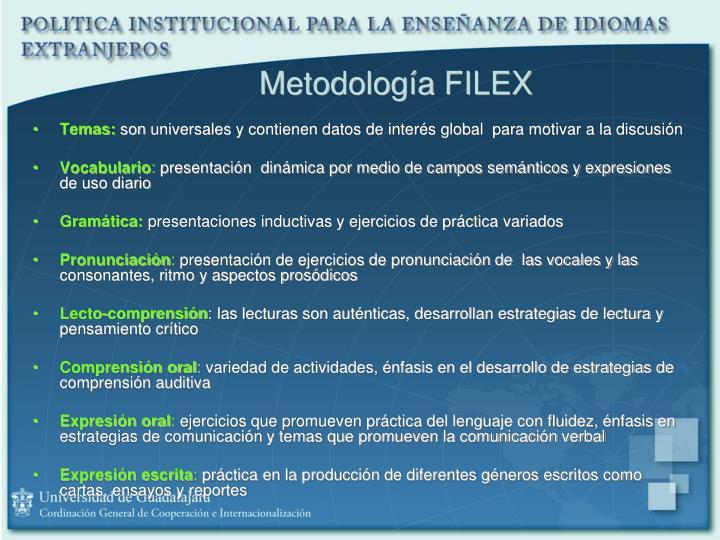 Metodología FILEX