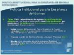 pol tica institucional para la ense anza de idiomas1