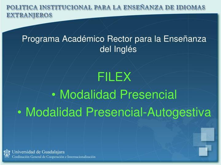 Programa Académico Rector para la Enseñanza del Inglés
