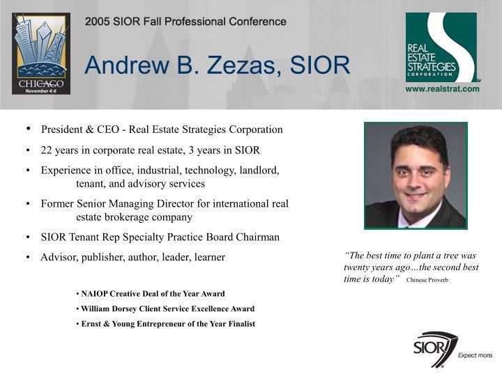Andrew B. Zezas, SIOR