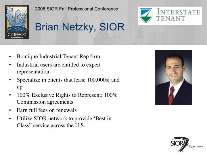 Brian Netzky, SIOR