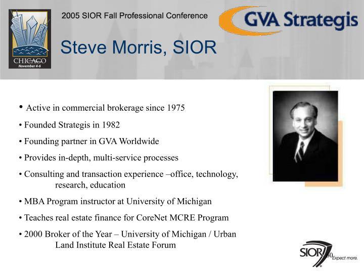 Steve Morris, SIOR
