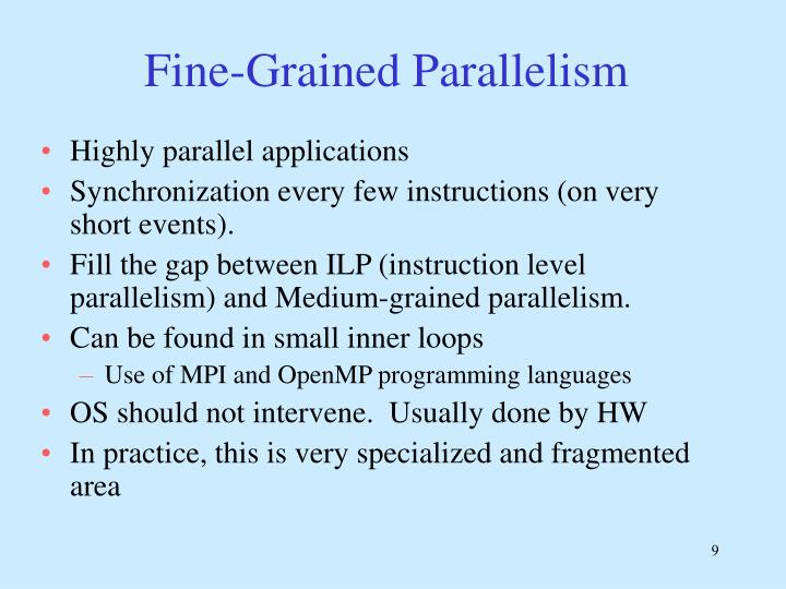 Fine-Grained Parallelism