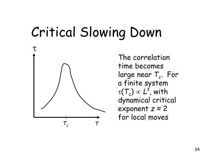 Critical Slowing Down
