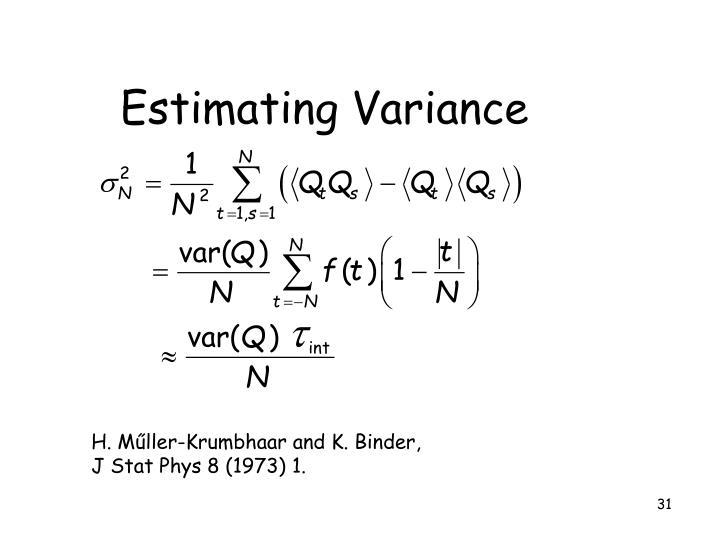 Estimating Variance