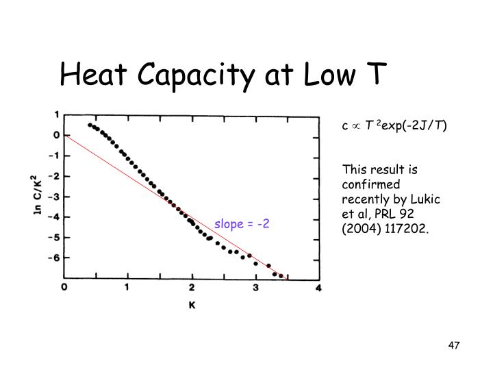 Heat Capacity at Low T