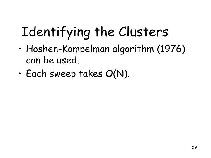 Identifying the Clusters