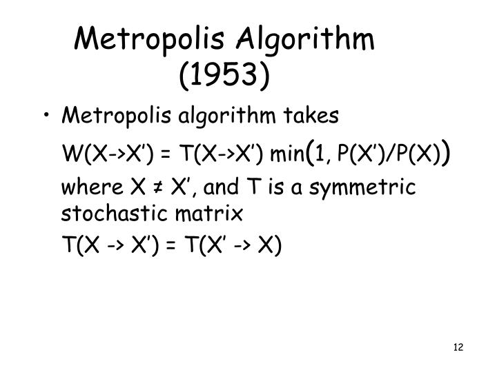 Metropolis Algorithm (1953)