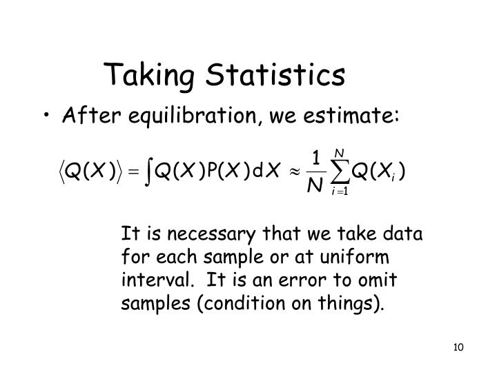 Taking Statistics
