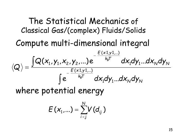 The Statistical Mechanics